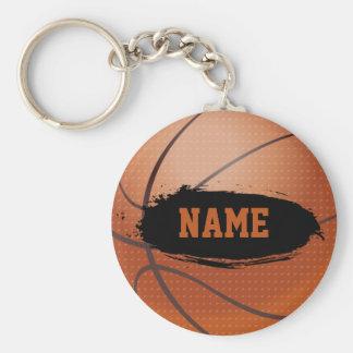 Porte - clé personnalisé par basket-ball grunge porte-clé rond