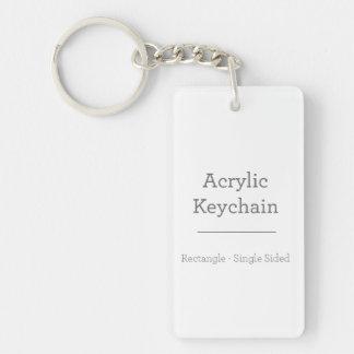 Porte - clé rectangulaire fait sur commande porte-clé  rectangulaire en acrylique une face