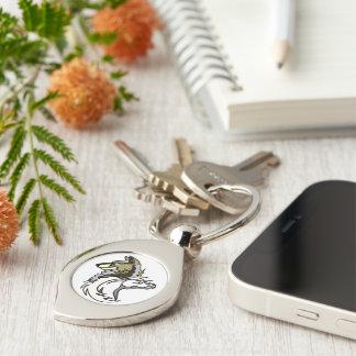 Porte - clé universel de logo de remous argenté porte-clés