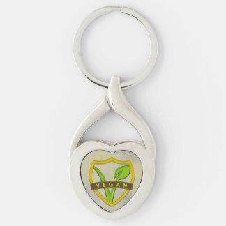 Porte - clé végétalien argenté III de croisade Porte-clés