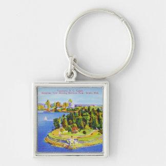 Porte - clé vintage d'île de Vancouver Porte-clés