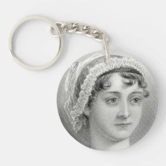 Porte - clé vintage d'illustration de Jane Austen Porte-clé Rond En Acrylique Double Face