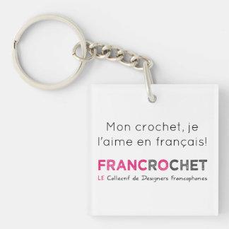 Porte-clef crochet en français