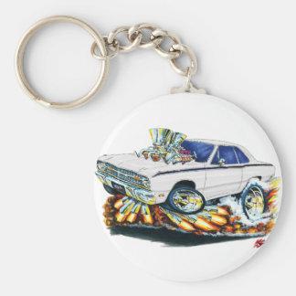Porte-clés 1968-71 voiture de blanc de dard de Dodge