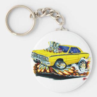 Porte-clés 1968-71 voiture de jaune de dard de Dodge