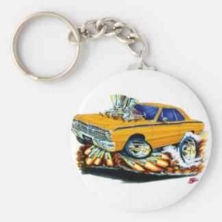 Porte-clés 1968-71 voiture d'orange de dard de Dodge