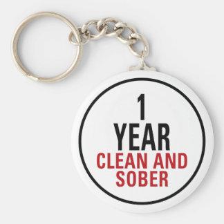 Porte-clés 1 an propre et de sobre