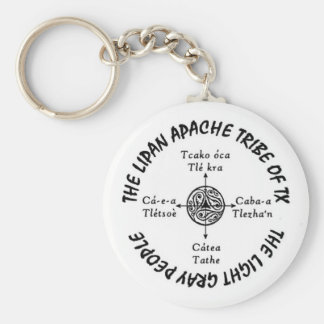 """Porte-clés 2,25"""" porte - clé rond de base de Lipan Apache"""