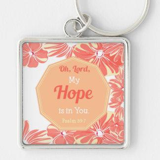 Porte-clés 39:7 de psaume mon espoir est dans vous