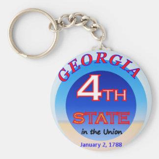 Porte-clés 4ème porte - clé d'état de la Géorgie
