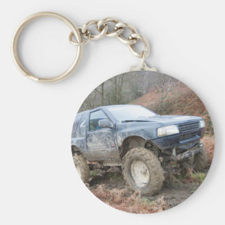 Porte-clés 4x4 outre de Roader sur la boue