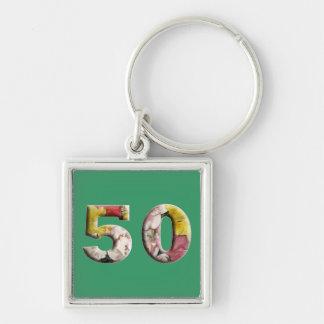 Porte-clés 50 ans de cinquantième d'anniversaire porte - clé