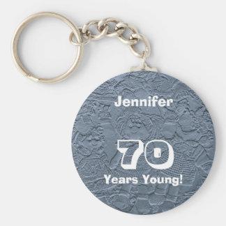 Porte-clés 70 ans de jeune porte - clé bleu de poupées (porte