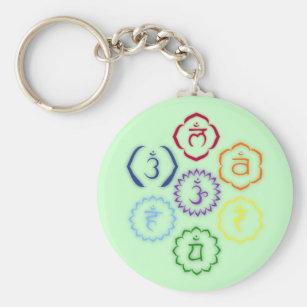 Porte-clés 7 Chakras en cercle