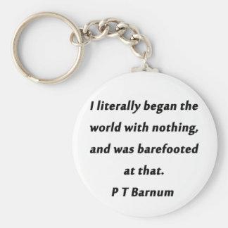 Porte-clés A commencé le monde - P T Barnum