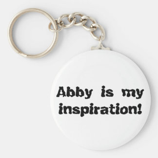 Porte-clés Abby est mon inspiration