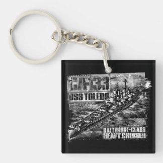 Porte-clés Acrylique carré double face de Toledo de croiseur