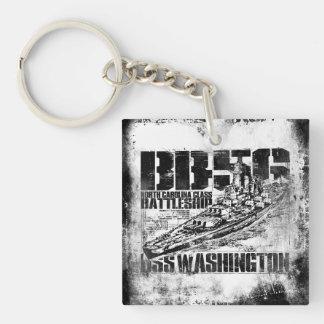 Porte-clés Acrylique carré double face de Washington de