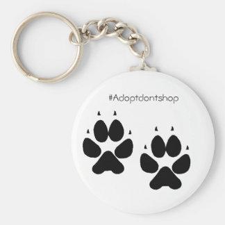 Porte-clés #adoptdontshop de pieds de chienchien de porte -