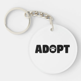 Porte-clés Adoptez le porte - clé d'acrylique de chien de