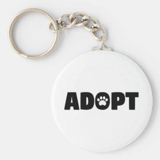 Porte-clés Adoptez le porte - clé de bouton de chien de
