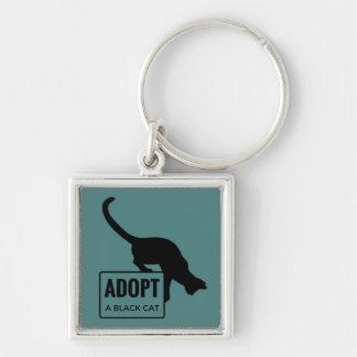 Porte-clés Adoptez un chat noir