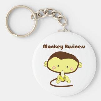Porte-clés Affaires de singe Brown et bande dessinée jaune de