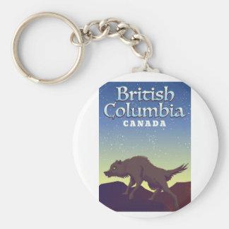 Porte-clés Affiche sauvage de loup du Canada de