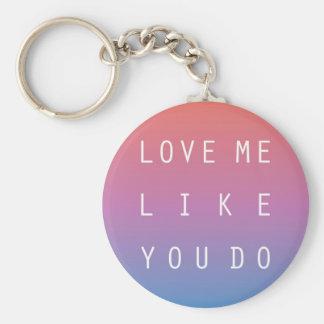 Porte-clés Aimez-moi comme vous faites