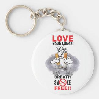 Porte-clés Aimez vos poumons - cessez le tabagisme