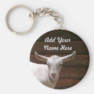 Porte-clés Ajoutez votre porte - clé de chèvre de nom ici