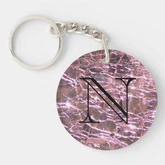 Porte-clés Alexandrite en verre crépité de juin de conception