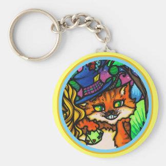Porte-clés Alice dans le joueur de poker de chat de Cheshire