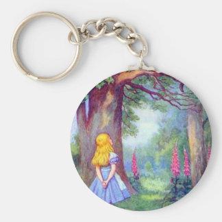 Porte-clés Alice et le chat de Cheshire