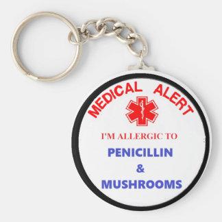 Porte-clés allergie médicamenteuse vigilante médicale