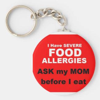Porte-clés Allergies alimentaires