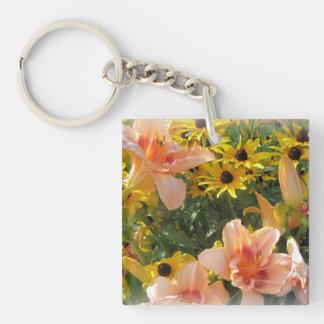 Porte-clés Amant de fleur de jardin de lis