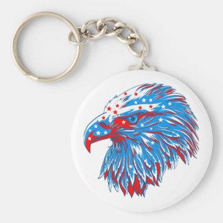 Porte-clés Américain Eagle rond