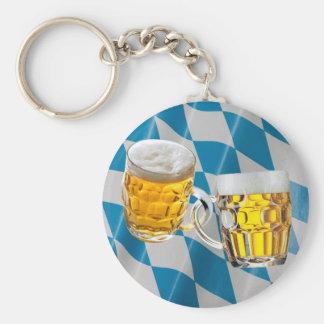 Porte-clés Amis d'Oktoberfest deux verres de bière drôles