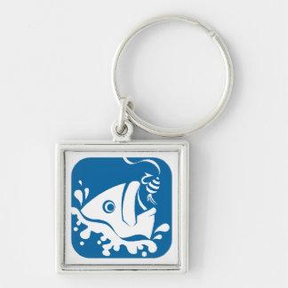 Porte-clés Amorce bleue de crochet de poissons de pêche