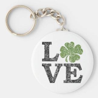 Porte-clés AMOUR de Jour de la Saint Patrick avec le shamrock