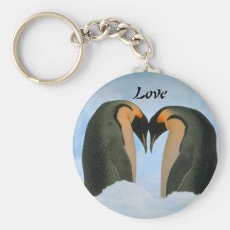 Porte-clés Amour de pingouins porte - clé