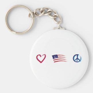 Porte-clés Amour d'espoir de paix