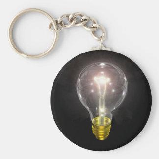 Porte-clés ampoule sur le noir fusée de 3 pouces
