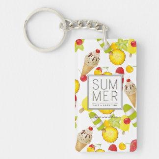 Porte-clés Amusement de fruits et de glace d'été