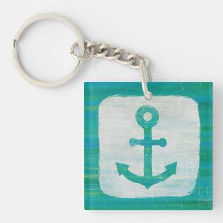 Porte-clés Ancre côtière d'Aqua de l'art  