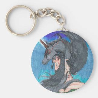 Porte-clés Ange et licorne
