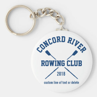 Porte-clés Année personnalisée de nom d'équipe d'avirons de