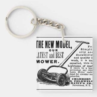 Porte-clés Annonce vintage de tondeuse à gazon