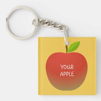 Porte-clés Apple et un demi (2 côtés)